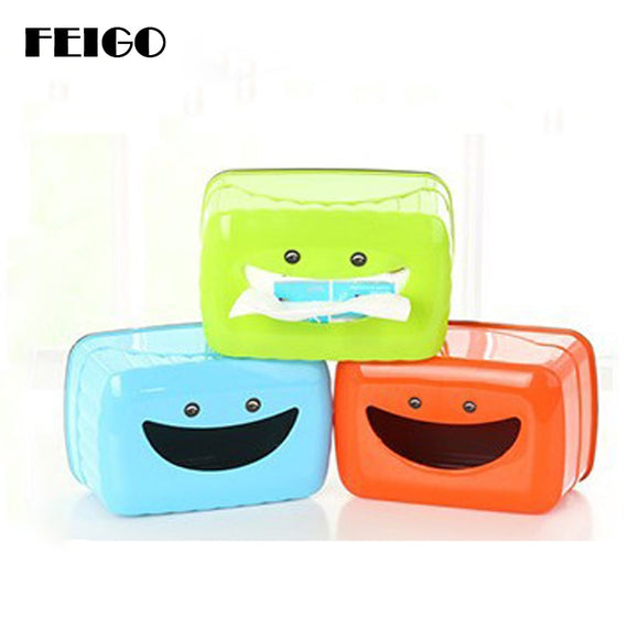Cute Smiling Face Plastic Case Real Tissue Case Baby Wipes Press