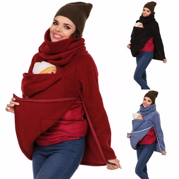 3 In 1 Multi - Functional Mother Kangaroo Sweater Autumn Winter Maternity Clothing