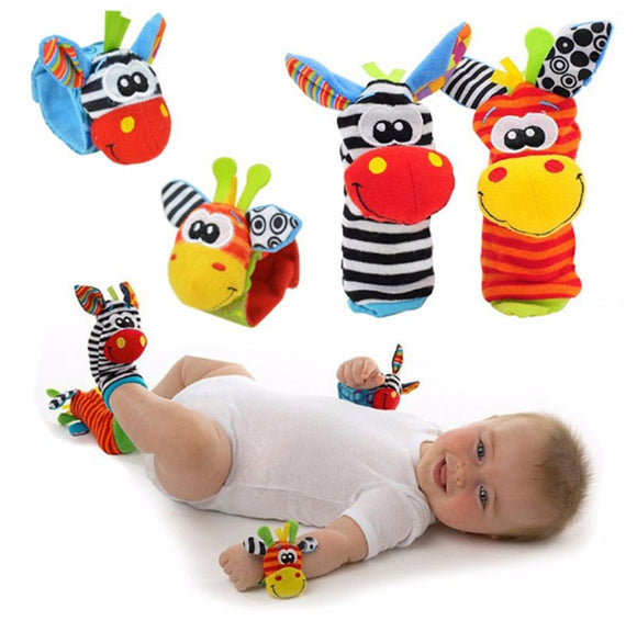 Soft Animal Baby Rattles, Wrist Strap & Foot Socks