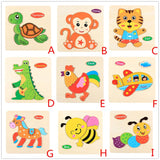 Colorful Wooden Puzzle Animal Educational Developmental Baby Kid Training Toy