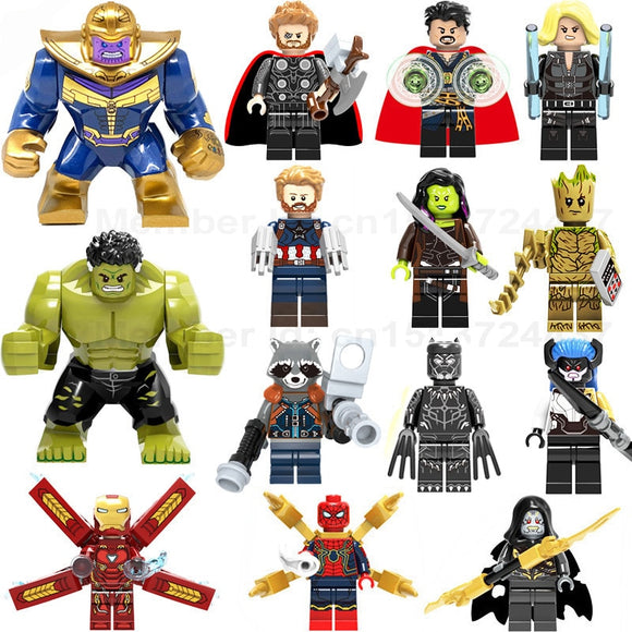 Marvel Avengers Infinity War Iron Man Thanos Thor Black Panther Falcon Gamora Hulk