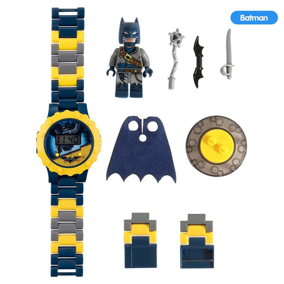 Super Hero Watch Building blocks Ninjagoed Marveling Avengers Figures Bricks Toys