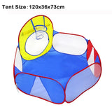 3Pcs/Set Foldable Pool-Tube-Teepee Baby Play Tent House Infant Kids Crawling Tunnel