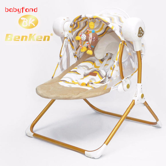 Auto-swing electric baby swing rocking chair with music automatic cradle sleeping basket