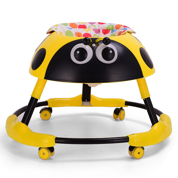 Baby walker balance anti-rollover 6-18 months multi-functional folding with music light