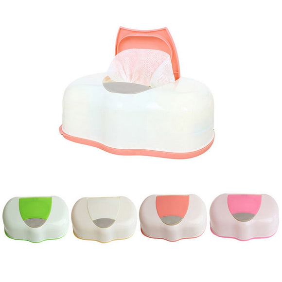 Pop-up Design Wet Tissue Box Plastic Automatic Case Baby Wipes