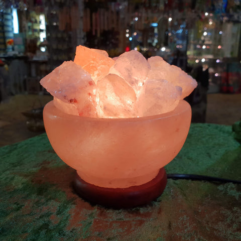 Carved Himalayan Salt Lamp - Pyramid Shape