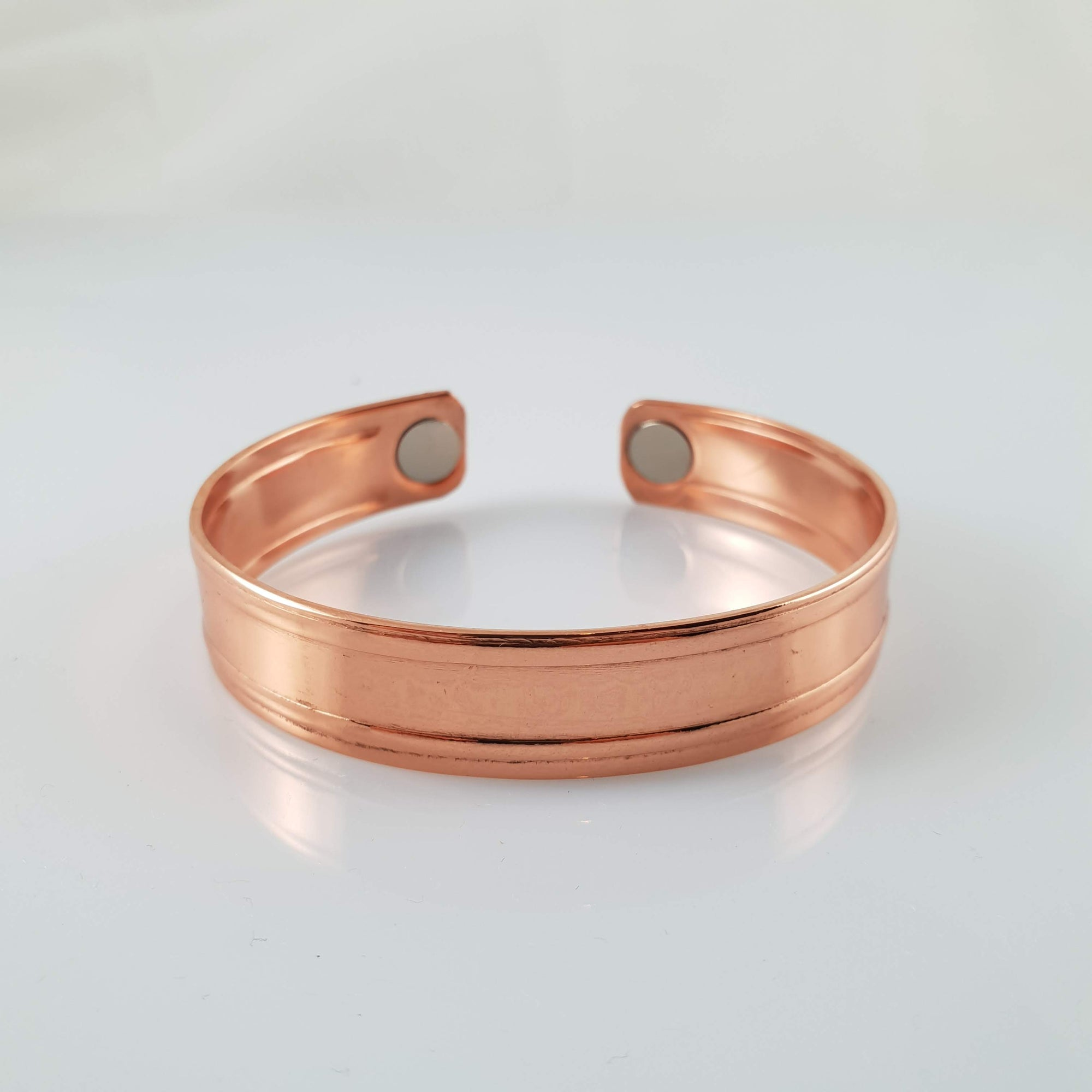 Handmade NZ Pure Copper Bracelet with Stripe - Rivendell Shop