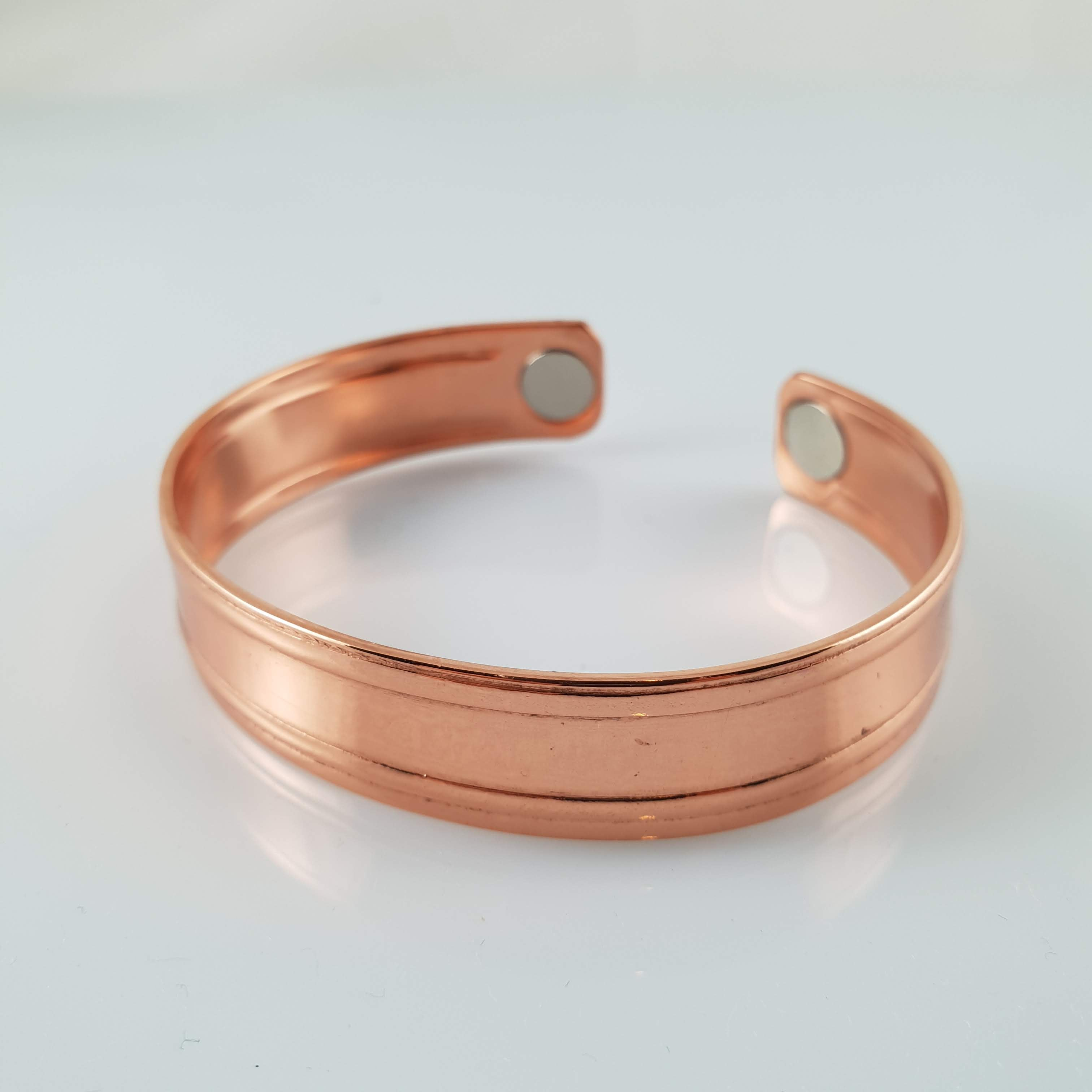 Handmade NZ Pure Copper Bracelet with Stripe