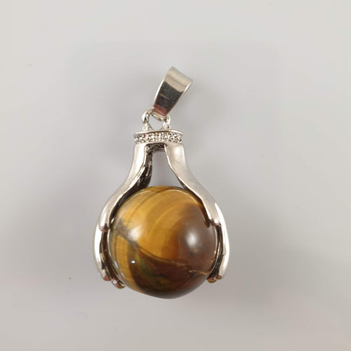 Tiger's Eye Crystal Globe Pendant - Rivendell Shop