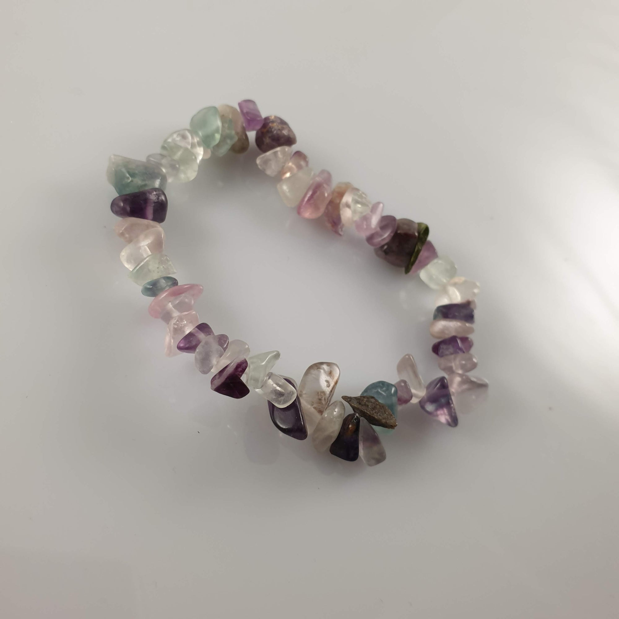 Fluorite Chip Crystal Bracelet - Rivendell Shop NZ