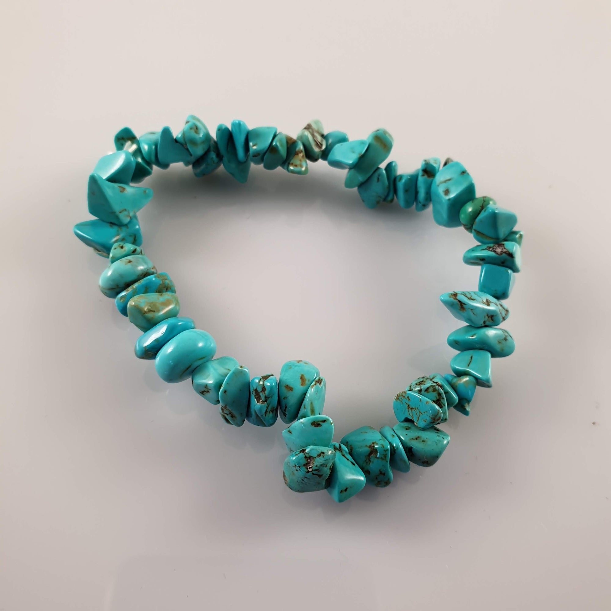Turquoise Chip Crystal Bracelet - Rivendell Shop NZ