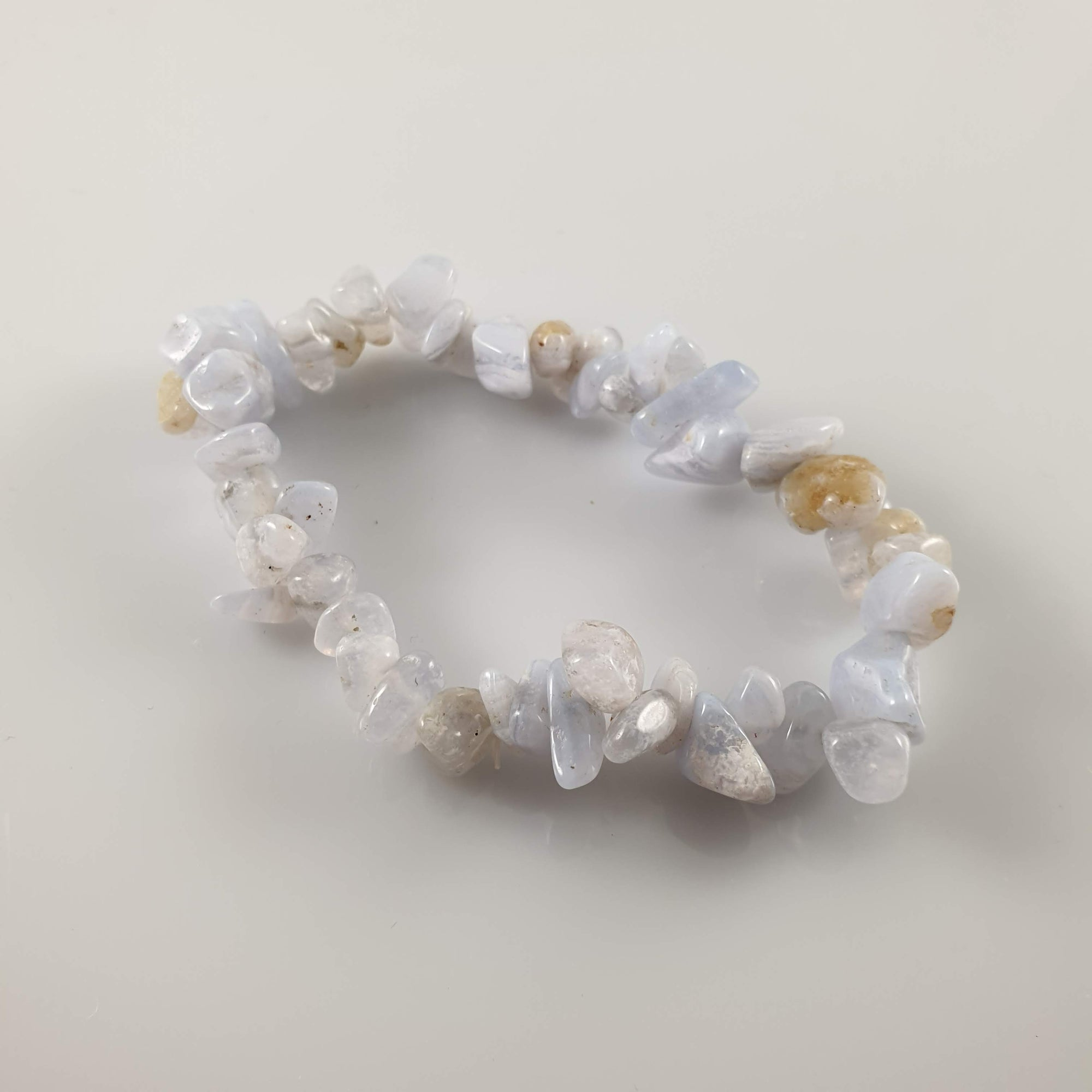 Chalcedony Chip Crystal Bracelet - Rivendell Shop NZ