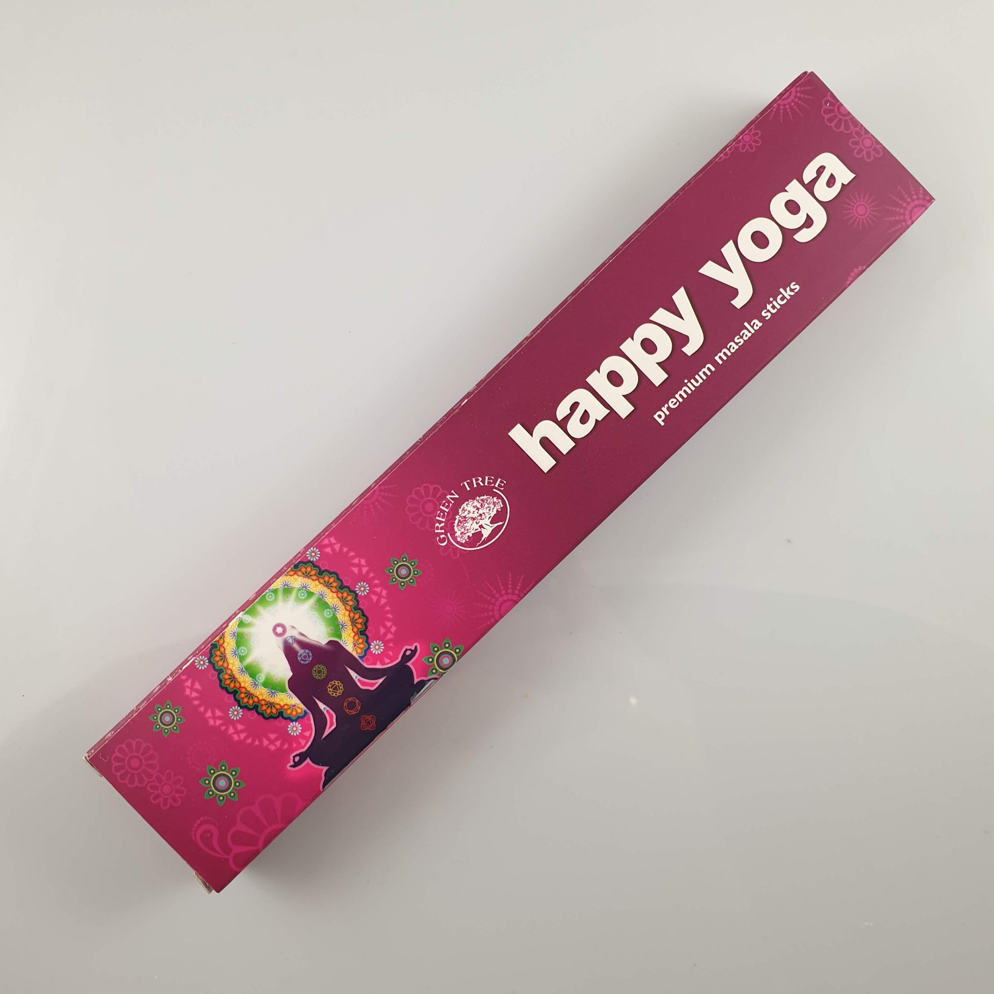 Green Tree Happy Yoga Incense 15gm - Rivendell Shop NZ