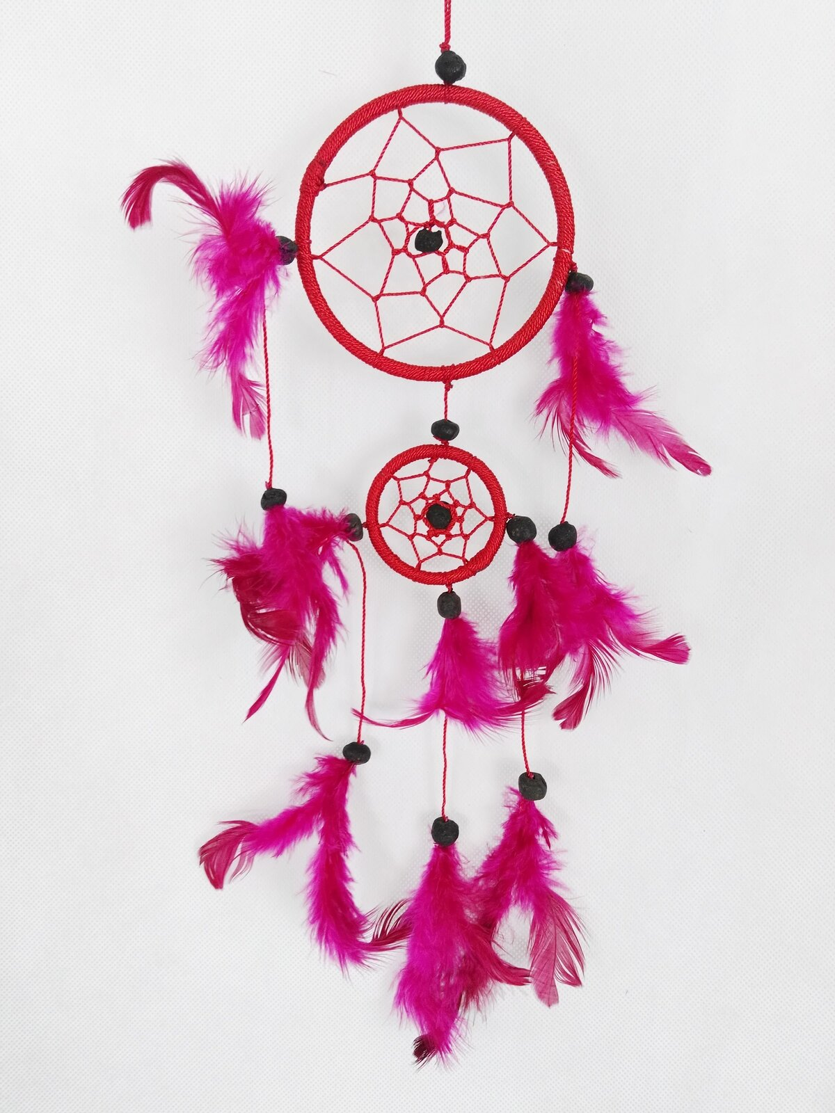 Red Two Tier Dreamcatcher - Rivendell Shop