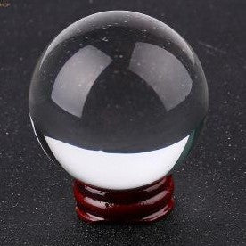 Crystal Ball on Wooden Stand 6cm - Rivendell Shop NZ