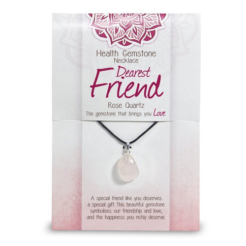 """Dearest Friend"" Health Gemstone Necklace - Rivendell Shop NZ"