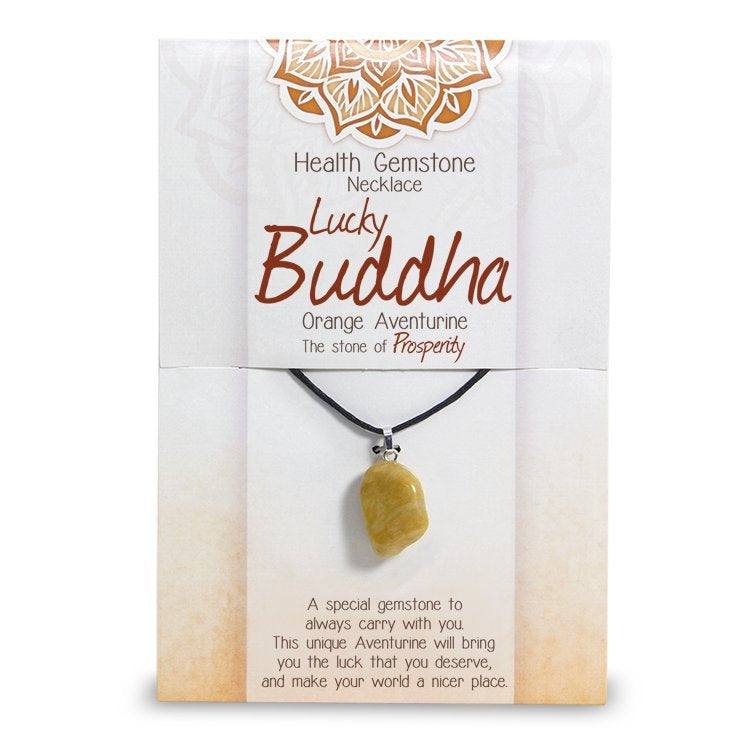 Lucky Buddha Health Gemstone Necklace - Rivendell Shop