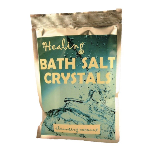 Cleansing Coconut Himalayan Salt Pure Bath Salts 100g - Rivendell Shop NZ