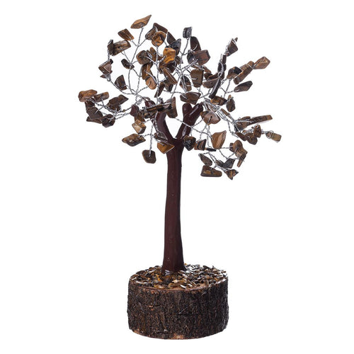 Tiger's Eye Crystal Tree on Wooden Base (Small) - Rivendell Shop