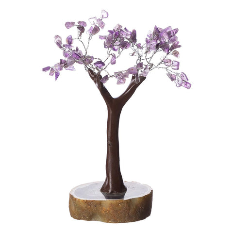 Amethyst Tree on Resin Base Small