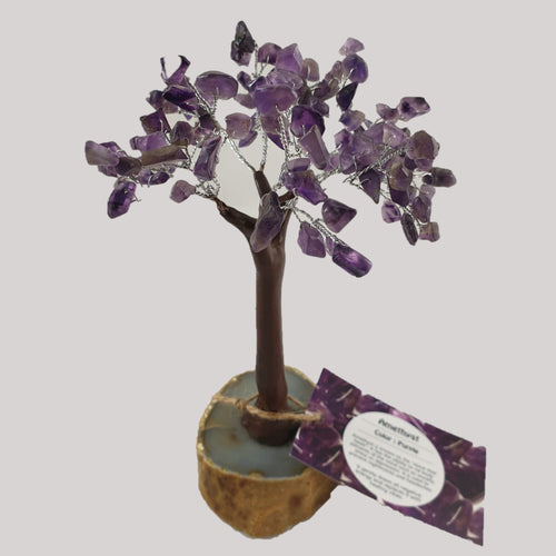 Amethyst Crystal Tree on Agate Base - Rivendell Shop