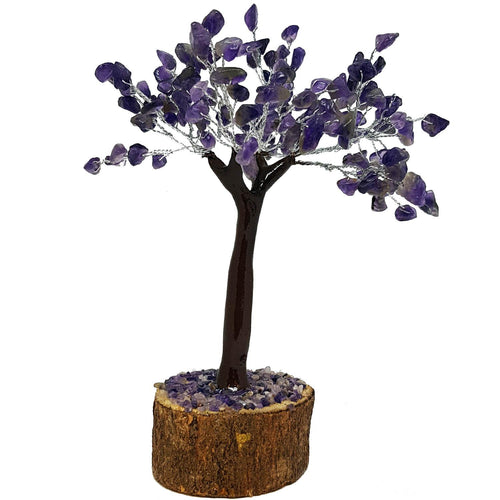 Amethyst Crystal Tree on Wooden Base (Medium) - Rivendell Shop