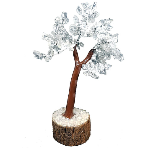 Clear Quartz Crystal Tree on Wooden Base (Medium) - Rivendell Shop