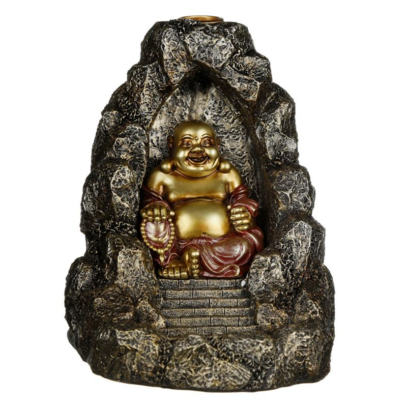 Chinese Laughing Buddha in Cave Backflow Burner - Rivendell Shop