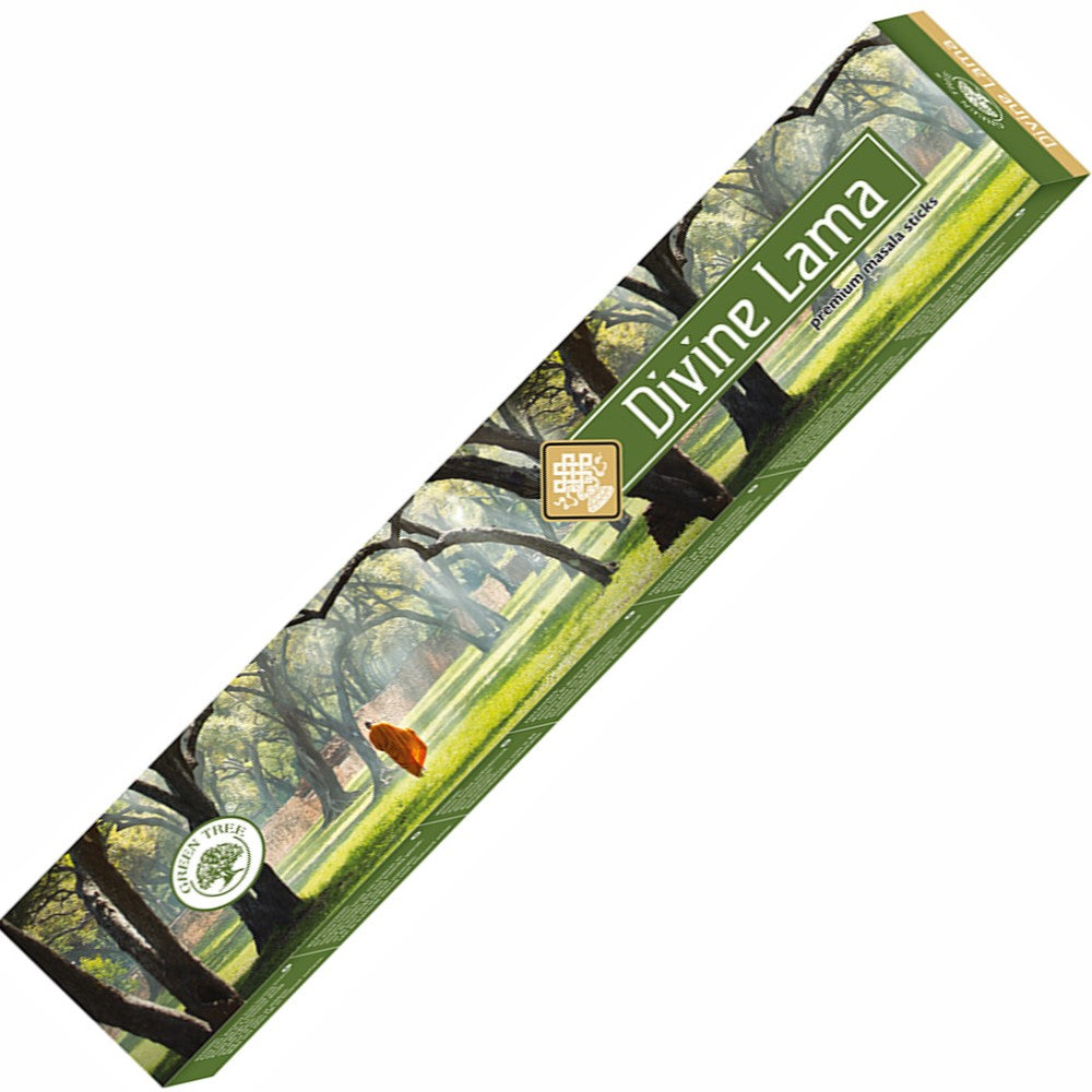 Green Tree Divine Lama Incense 15gm - Rivendell Shop NZ