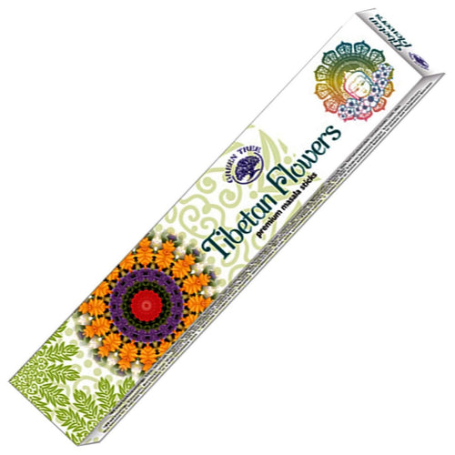 Green Tree Tibetan Flowers Incense 15gm - Rivendell Shop NZ