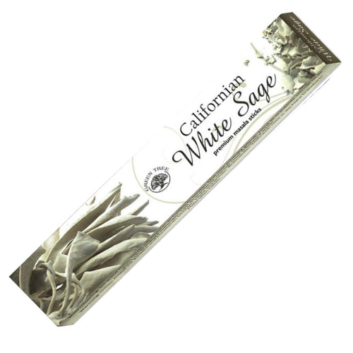 Green Tree Californian White Sage Incense 15gm - Rivendell Shop NZ