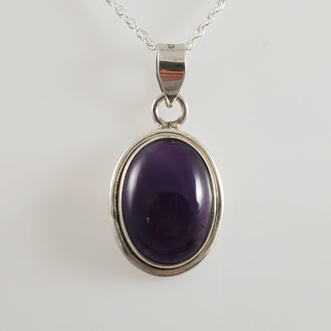 Rectangle Round Iolite 925 Stirling Silver Pendant