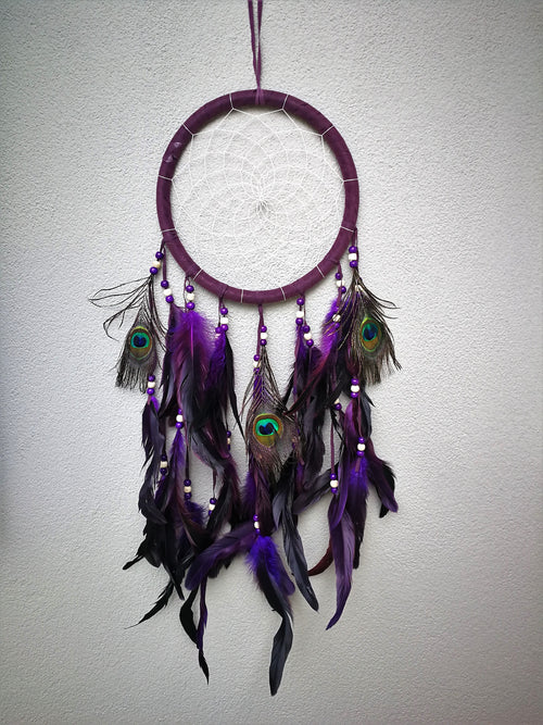 "Large dreamcatcher ""Zonta"" - Purple - Rivendell Shop NZ"