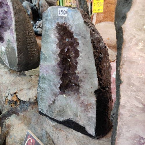 Natural Amethyst Cave (40cm tall) - Rivendell Shop NZ