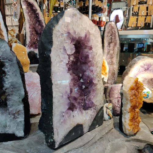 Natural Amethyst Cave (50cm tall) - Rivendell Shop NZ