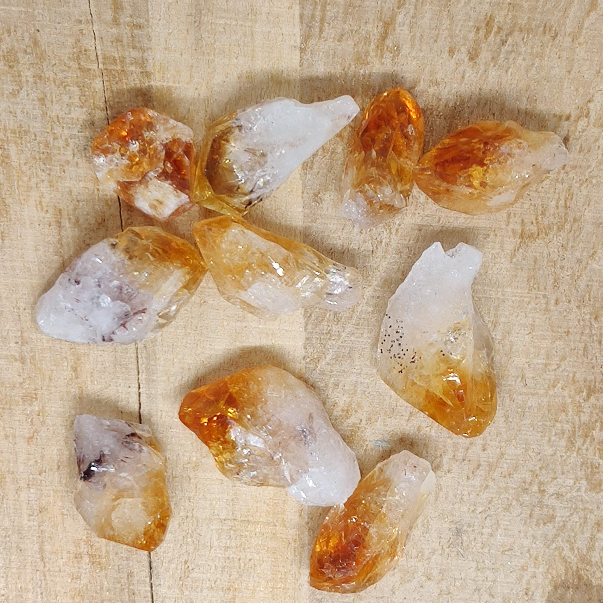 Natural Citrine Crystal Point (Small) - Rivendell Shop NZ