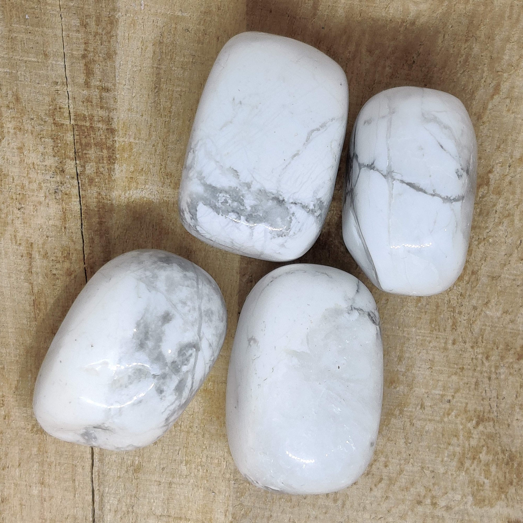 White Howlite Tumbled Crystal - Rivendell Shop NZ