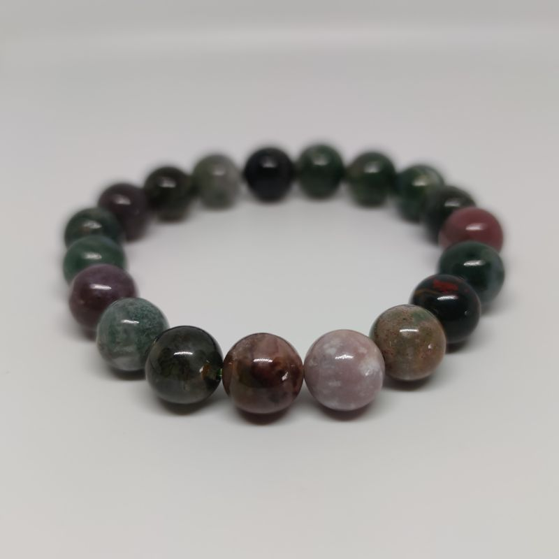 Agate Round Bead Crystal Bracelet - Rivendell Shop NZ