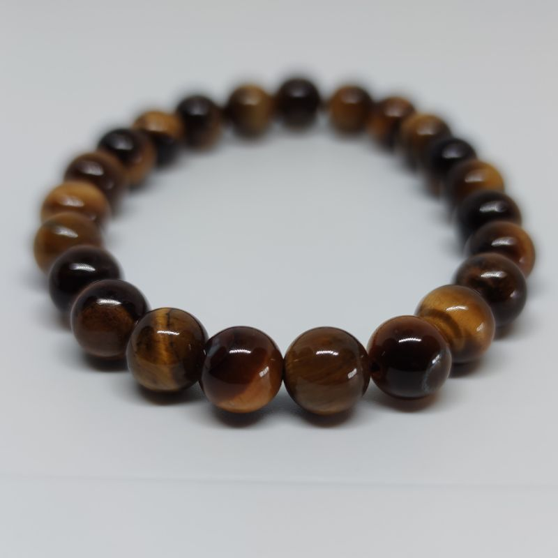 Tiger's Eye Round Bead Crystal Bracelet - Rivendell Shop NZ