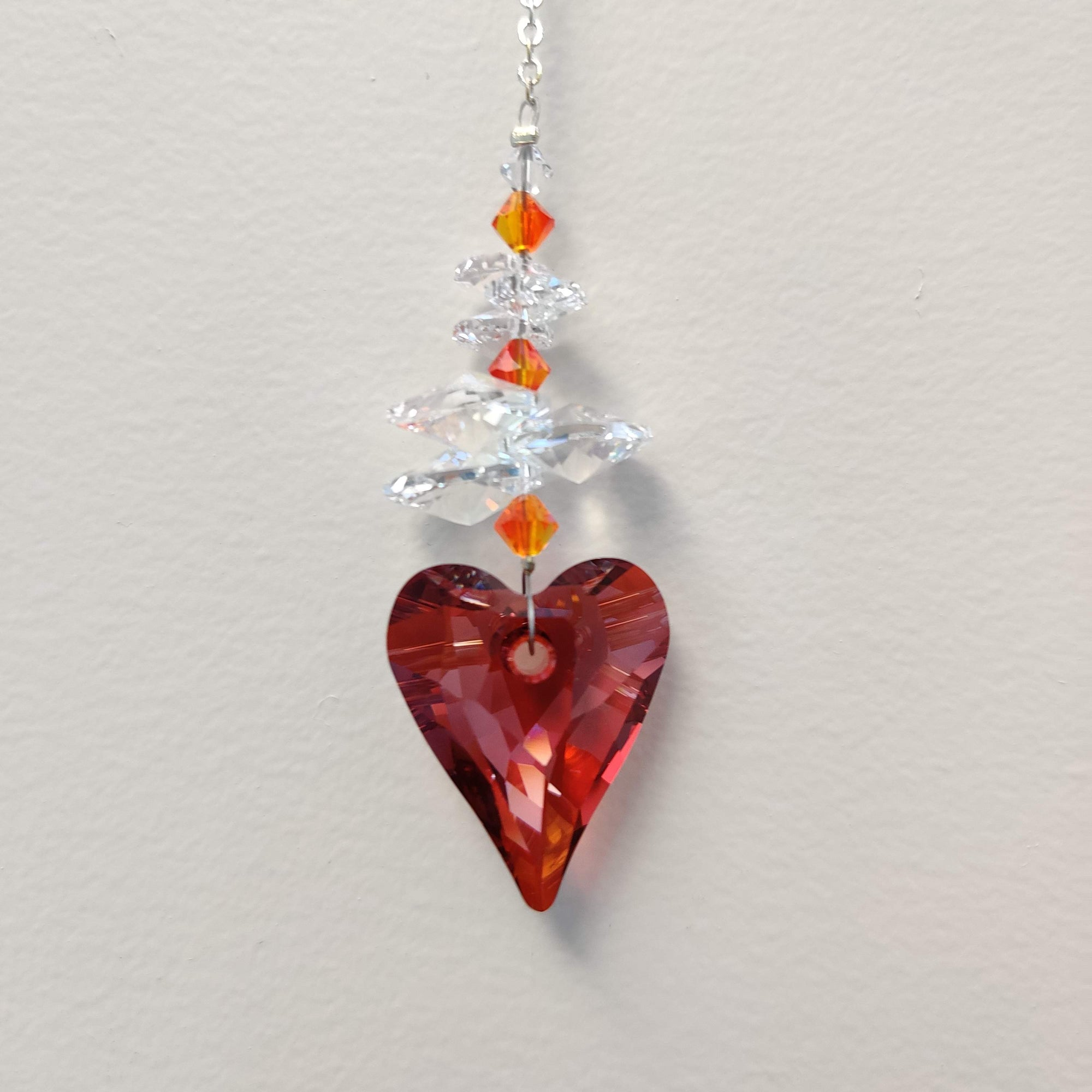 Clarus Ice Swarovski Crystal - Red Magma Wild Heart - Rivendell Shop