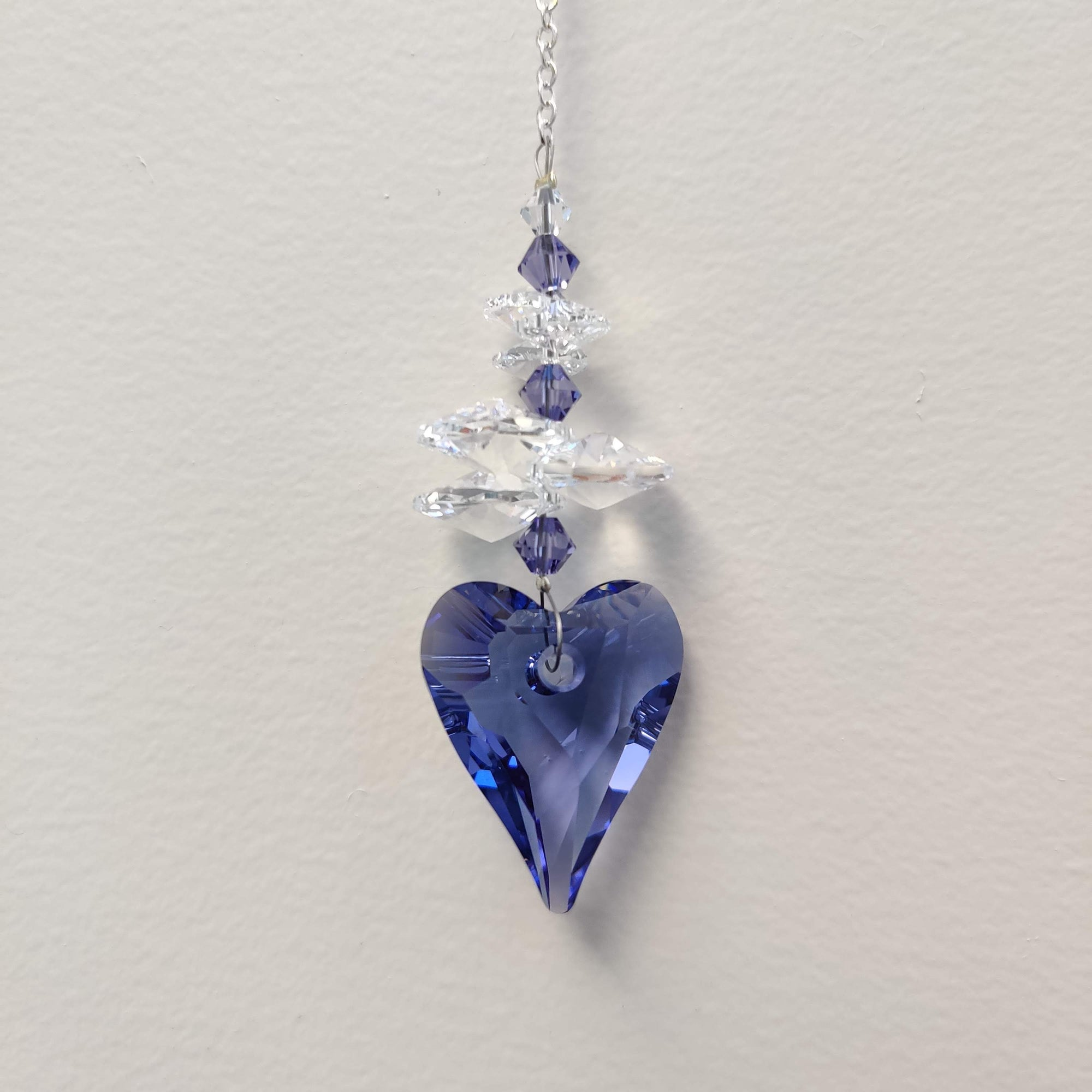 Clarus Ice Swarovski Crystal - Tanzanite Wild Heart - Rivendell Shop