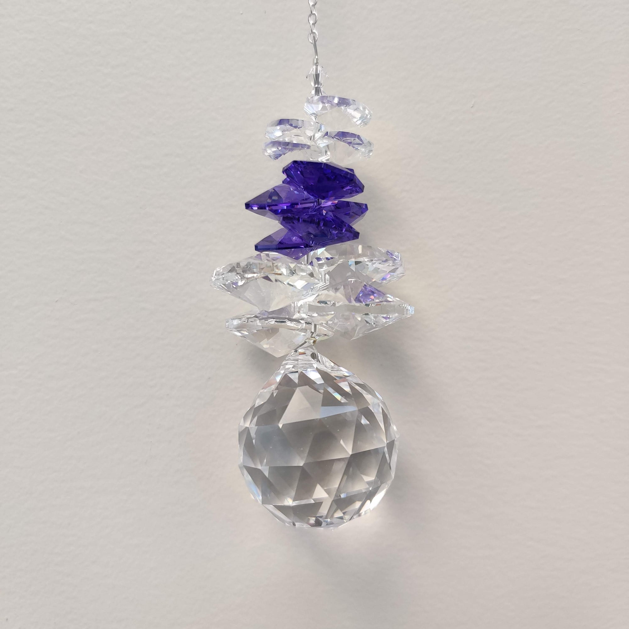 Clarus Ice Sphere Swarovski Crystal - Blue/Violet - Rivendell Shop