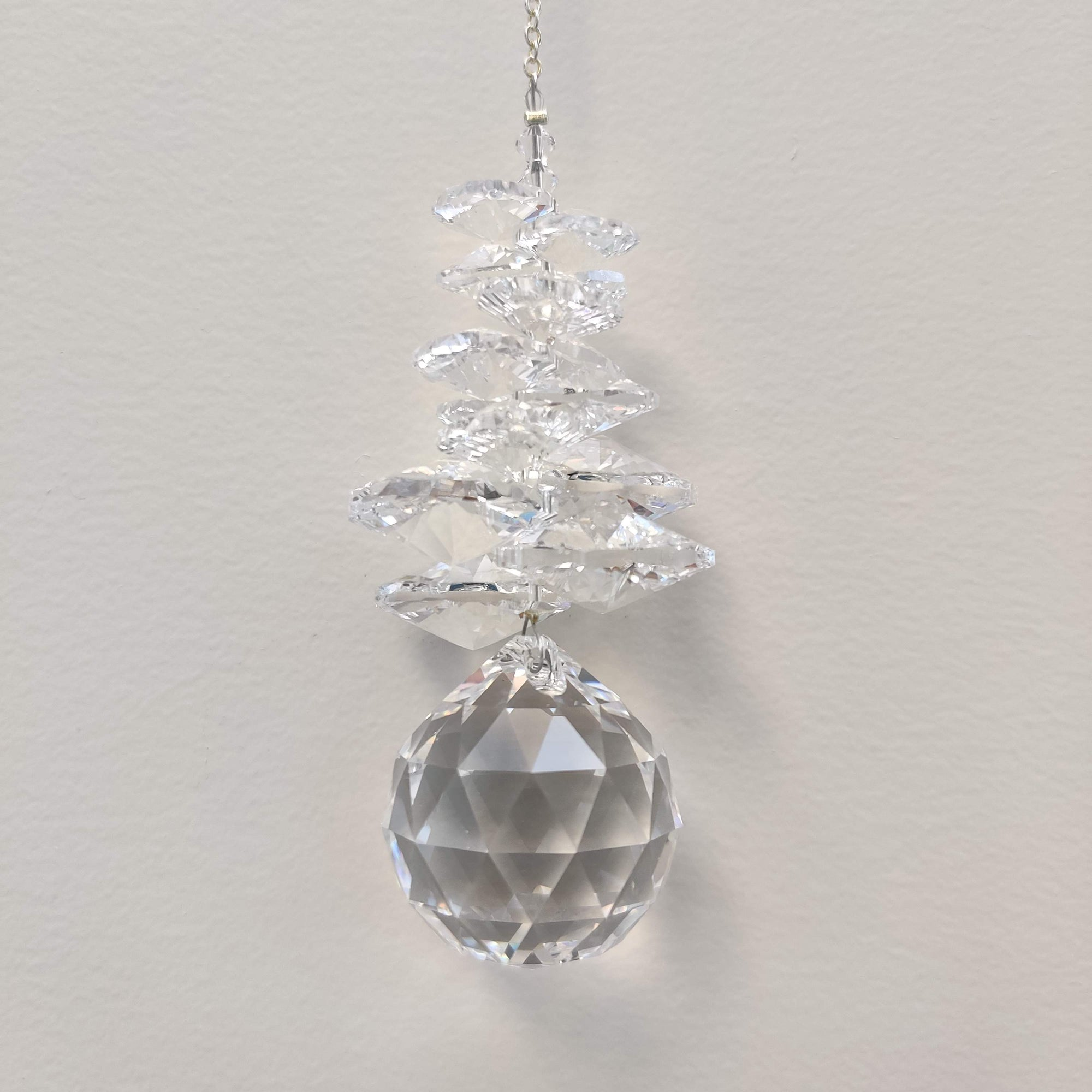 Clarus Ice Sphere Swarovski Crystal - Pure - Rivendell Shop