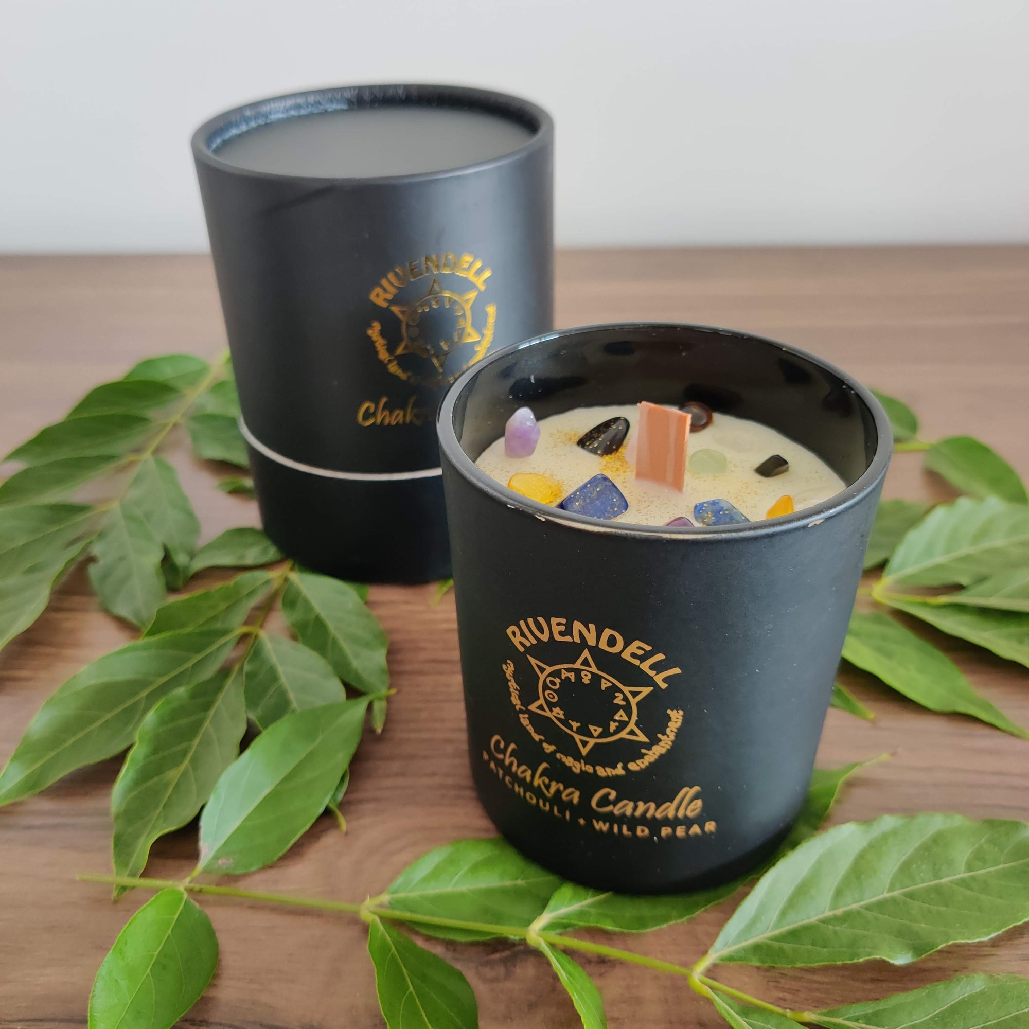 Rivendell's Chakra Candle: Patchouli and Wild Pear - Rivendell Shop NZ
