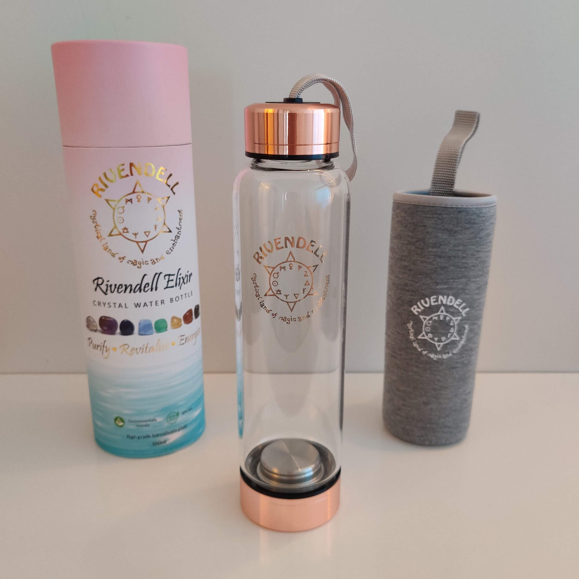 Point Crystal Water Bottle: Rivendell Elixir - Rivendell Shop