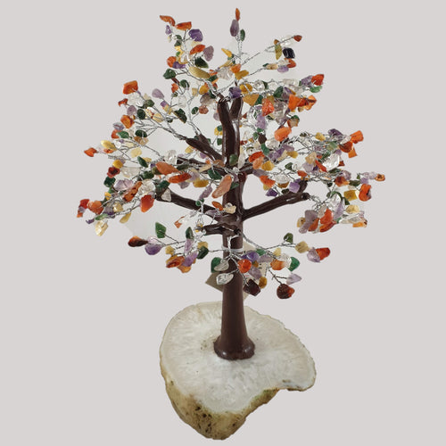Mixed Crystal Tree on Agate Base - Rivendell Shop