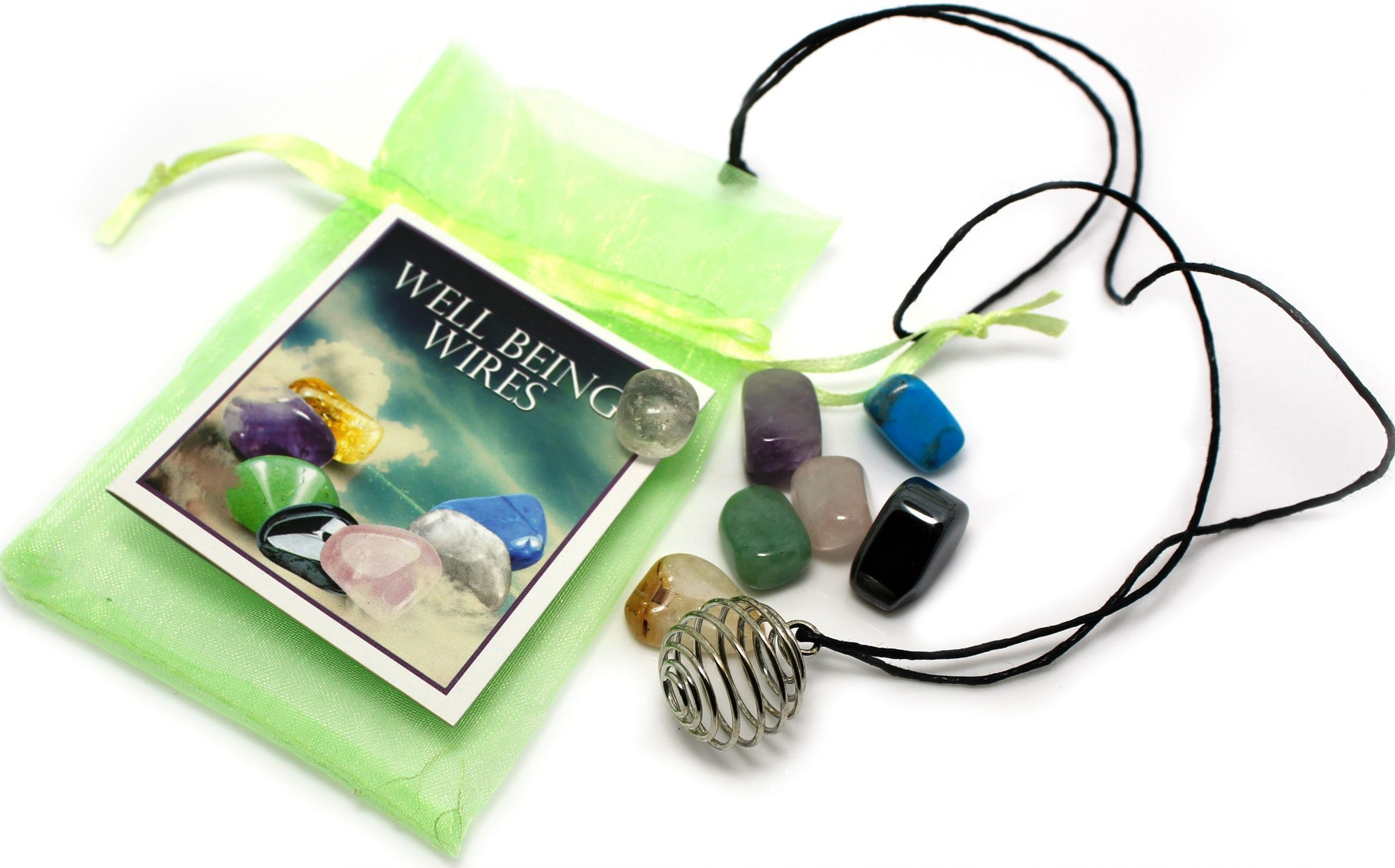 Wellbeing Necklace with Seven Gemstone Pendants - Rivendell Shop