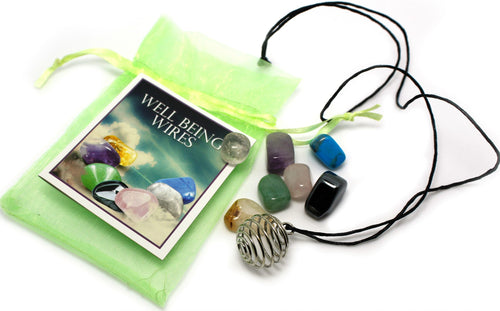 Wellbeing Necklace with Seven Gemstone Pendants - Rivendell Shop NZ