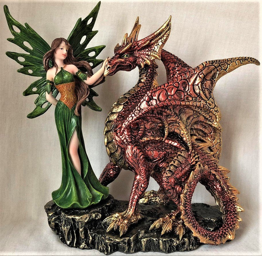 Forest Fairy with Large Dragon - Rivendell Shop